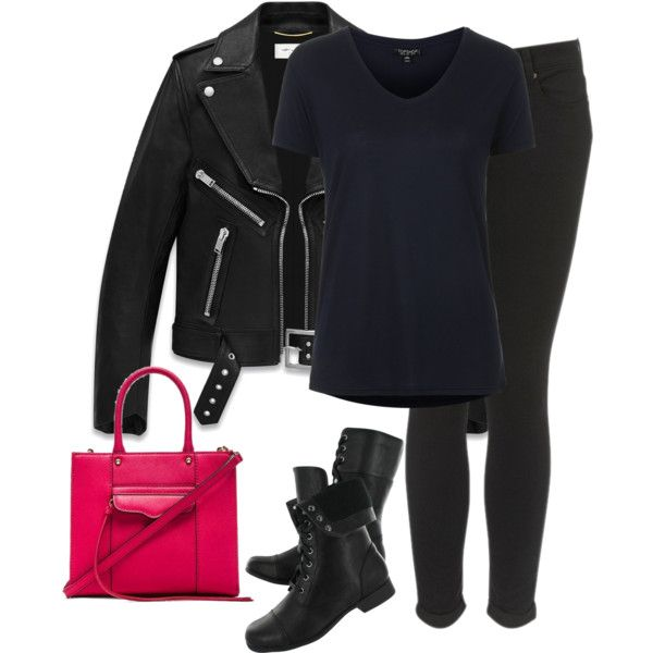 Untitled #1048 by laurakaroliina on Polyvore featuring Topshop, Yves Saint Laurent, Hush Puppies and Rebecca Minkoff