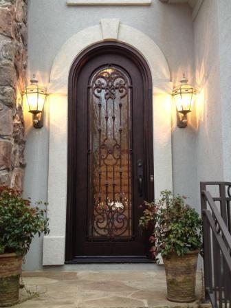 Single Full Radius Full Glass Clark Hall Doors Charlotte Nc