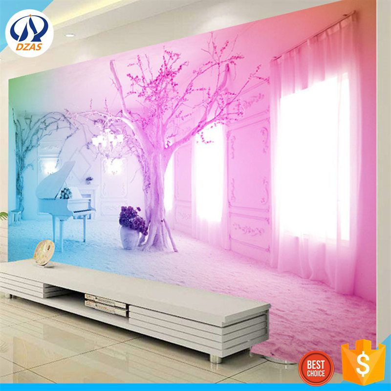 European large-scale seamless mural 4d film wall TV background wall ...