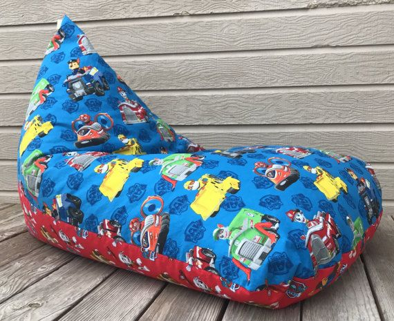 Paw Patrol Bean Bag Chair Ready To Ship By SewJoyfulCreations