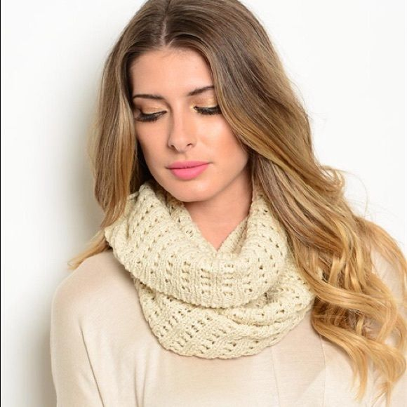 Beige Scarf Cozy beige scarf Modest Appeal Accessories Scarves & Wraps