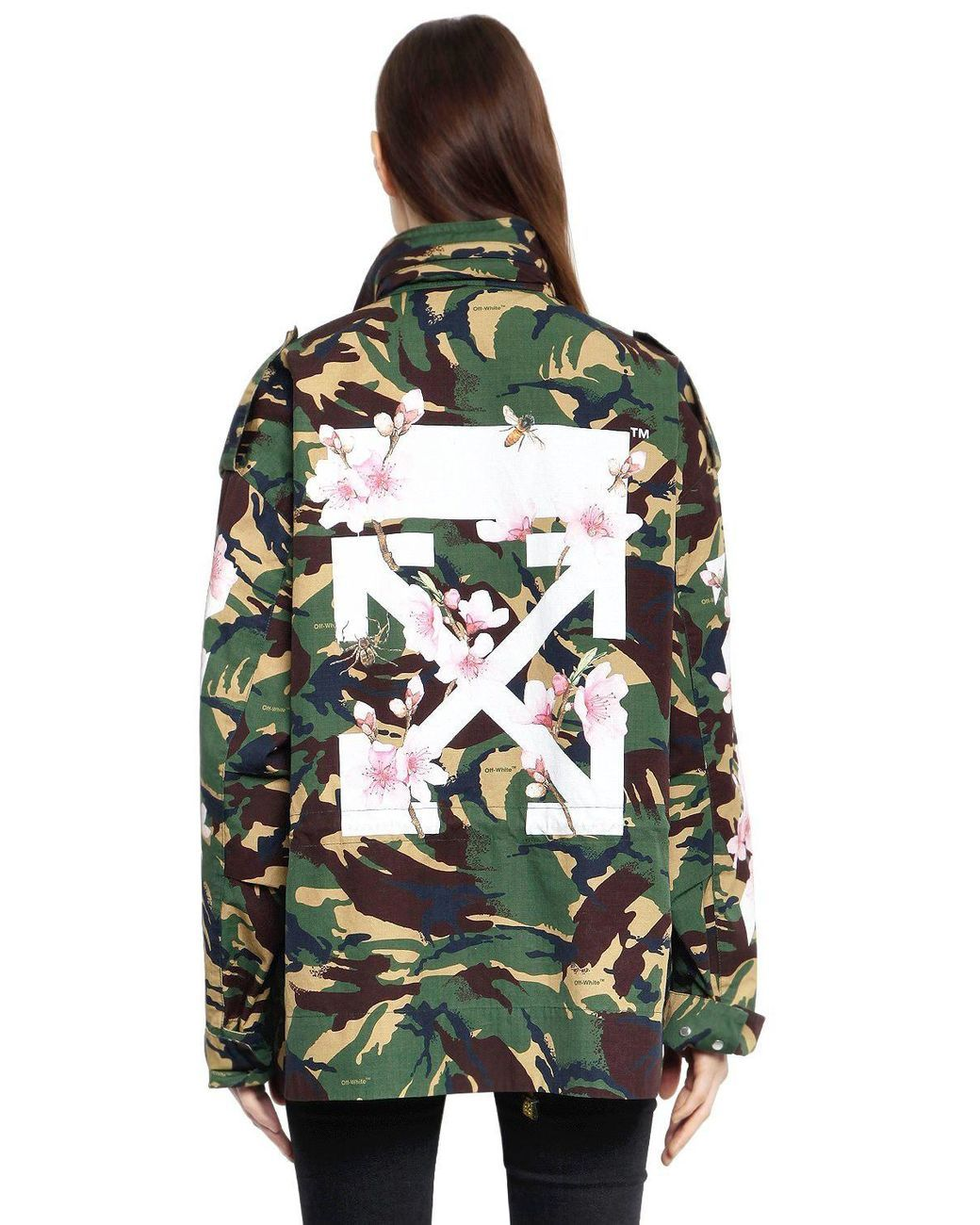 42f8d6e13a8f3 Off-White c/o Virgil Abloh | Green M65 Camo & Cherry Blossom Field Jacket |  Lyst
