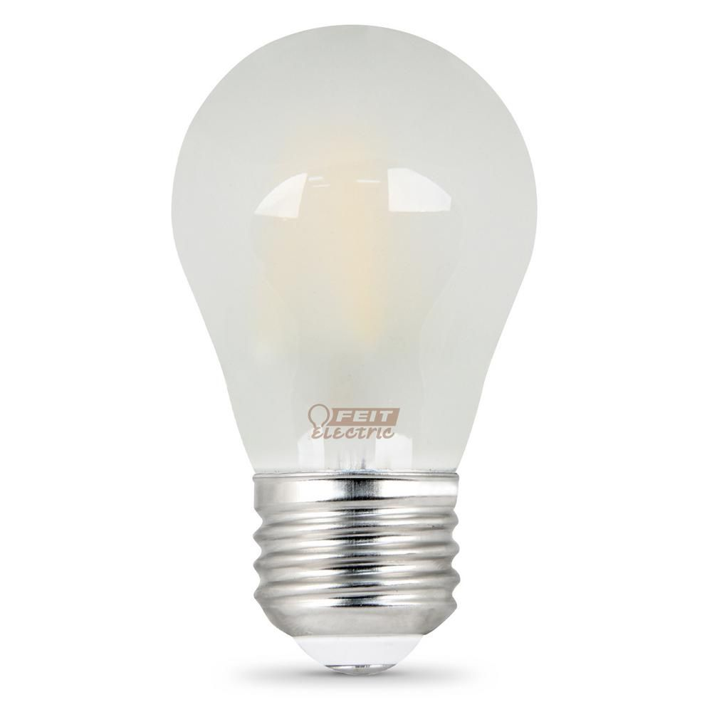 Feit Electric 40w Equivalent Soft White A15 Dimmable Frosted Filament Led Medium Base Light Bulb Case Of 24 Light Bulb Ceiling Fan With Light Bulb