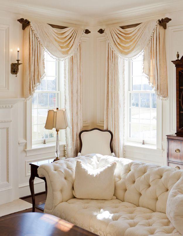Corner Windows Swags Jabots Dekorasi Rumah Rumah Desain Rumah