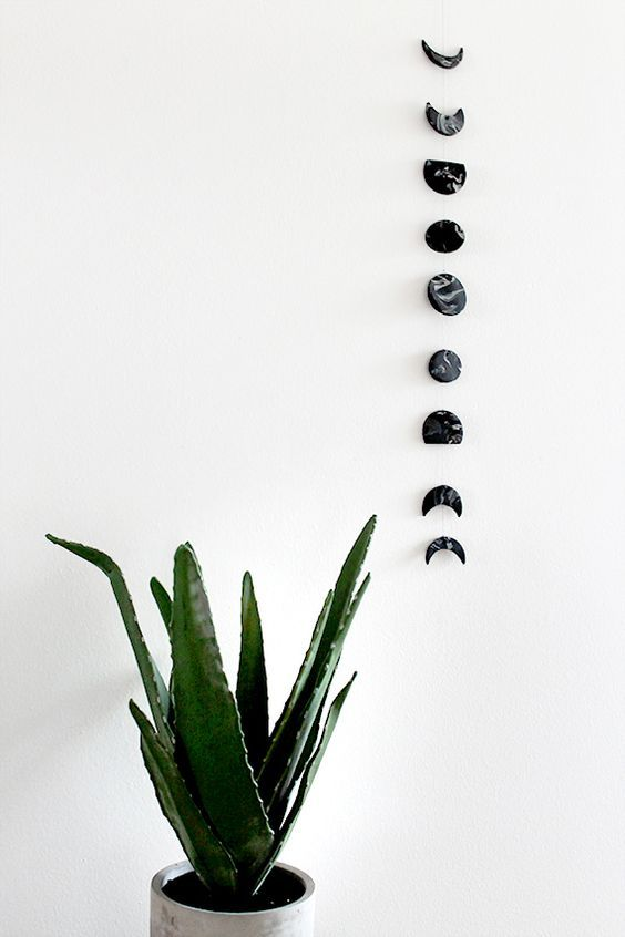 diy marble moon phase wall hanging - Trending decor, Diy marble, Diy tumblr, Diy decor, Mason jar crafts diy, Diy -  needle + thread a rolling pin 01  soften up your … Continue reading  diy marble moon phase wall hanging