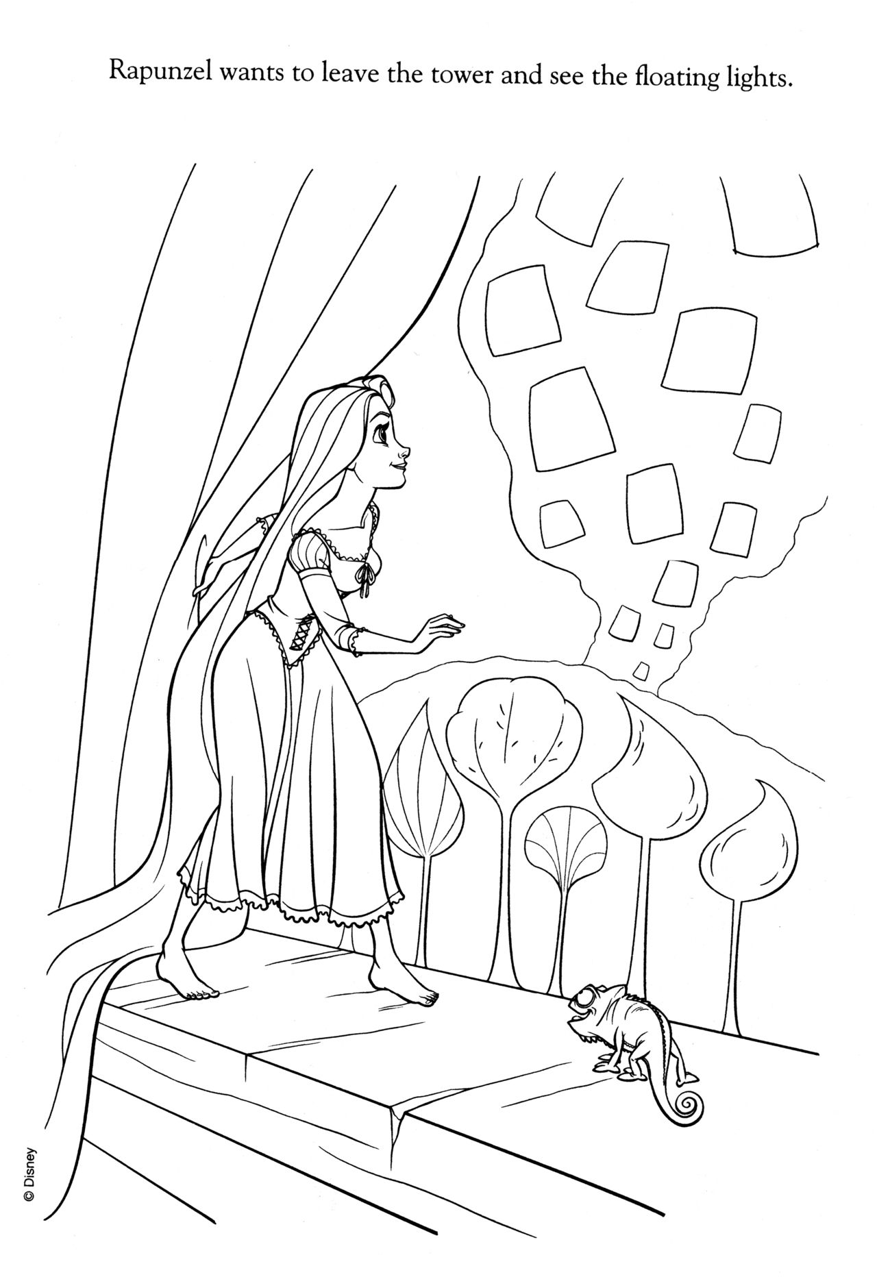 Coloriage Raiponce Disney Coloring Pages Tangled Coloring Pages