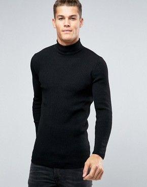 Men's Turtleneck | Shop Men's Roll Neck Sweater | ASOS