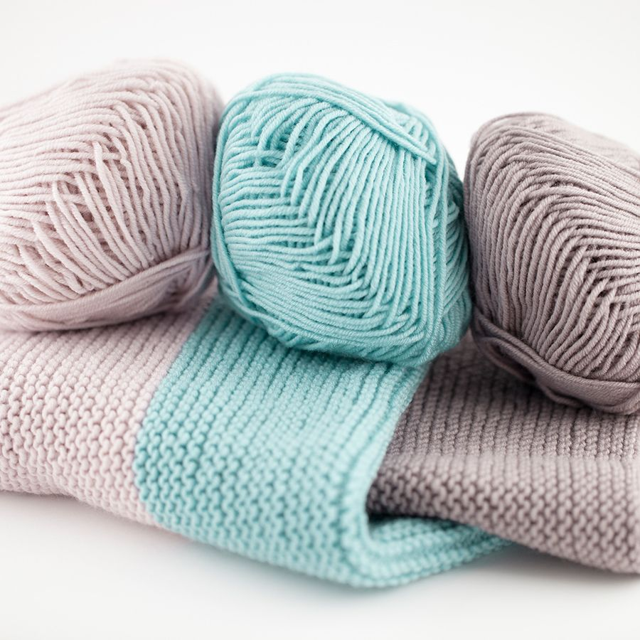Simple Baby Blanket Knitting Pinterest Tricot