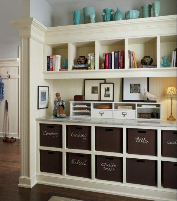 Hallway Organization Idea