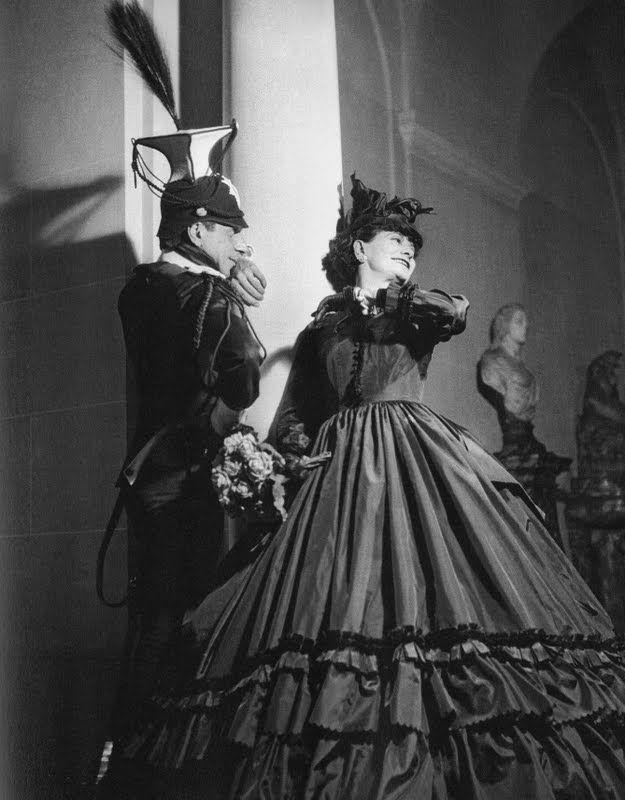 """Coco Chanel and Fulco di Verdura attending the """"Bal Second Empire"""". Paris, 1934"""