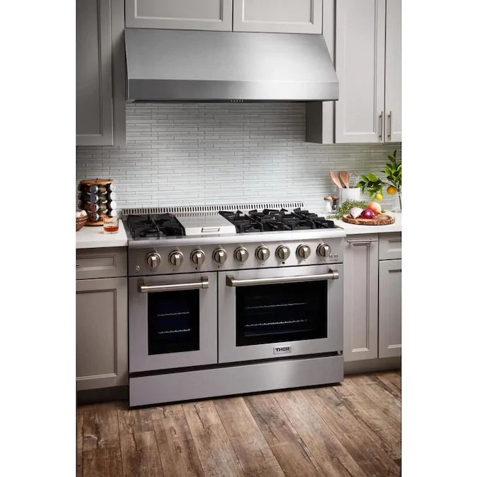 Thor Kitchen 48 In Ducted Stainless Steel Undercabinet Range Hood Lowes Com Gas Range Double Oven Freestanding Double Oven Double Convection Oven