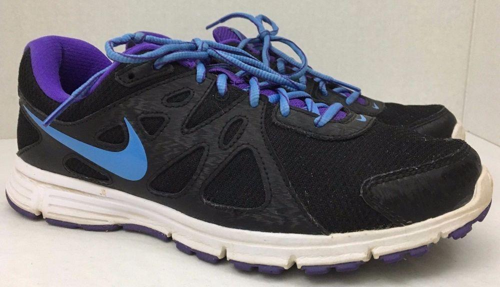 5503fba9cfcc Nike Revolution 2 Running Shoe 554900 023 Size 10 Black Purple and Blue   Nike  RunningCrossTraining