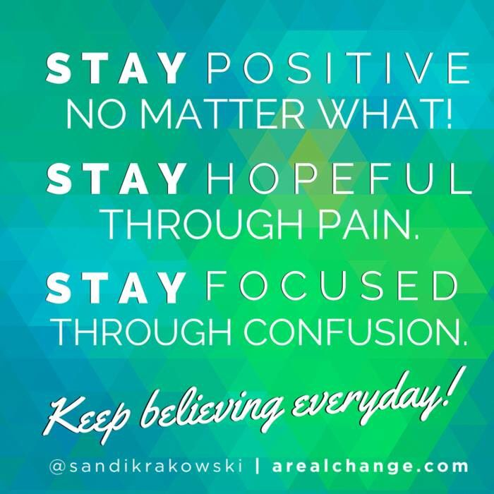 Always Stay Positive!!!! www.2CharmedLives.com