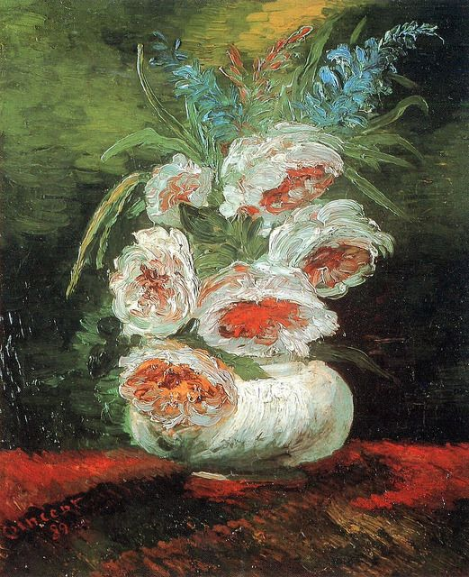 Mlancolies Vases With Flowers By Vincent Van Gogh Antiques And