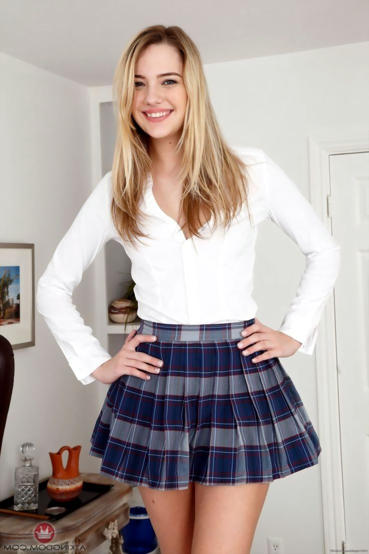amazing girl kenna james pretty with any clothes skirt  u0026 smile