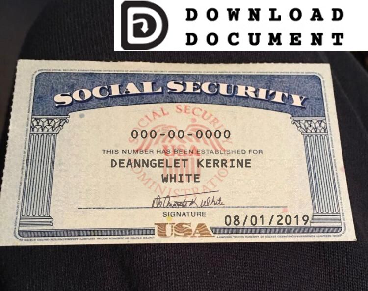 Social Security Card 16 Social Security Card Fake Birth Certificate Card Template