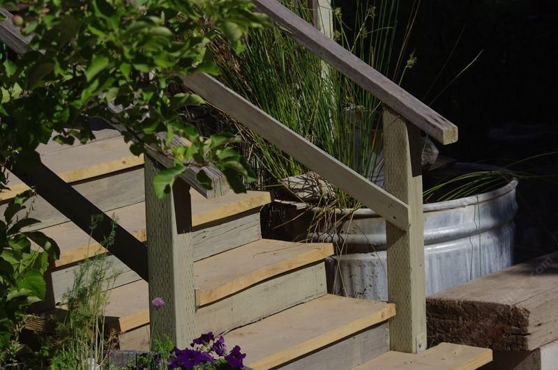 How To Build A Simple Easy And Cheap Stuff For You Garden   Wooden Handrail For Garden Steps   Stone Step   Free Standing   Metal   Wrought Iron   Front Door Step