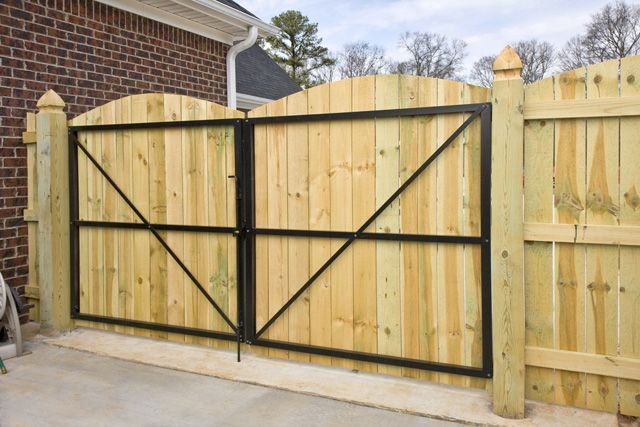 Wrought Iron Double Gate Walk Thru Lowes Google Search Fence Gate Design Wooden Fence Gate Wooden Garden Gate
