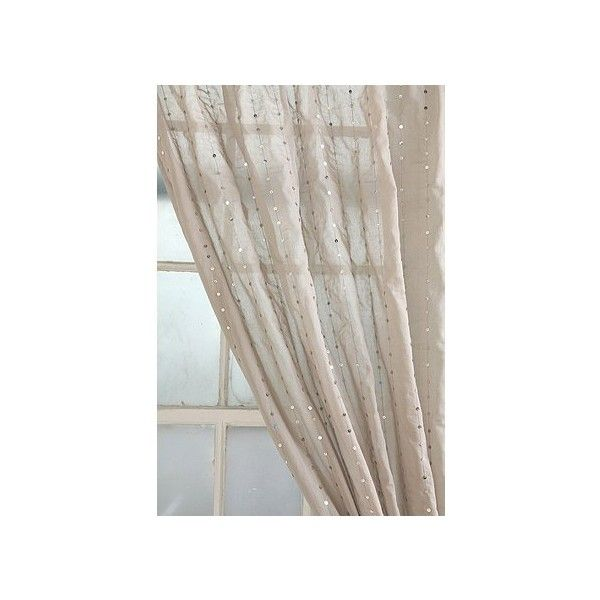 Sequin Stripe Curtain ($20) found on Polyvore