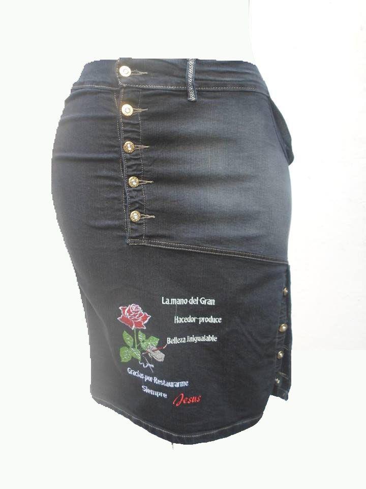 123cc18662 falda dama en tela jeans stress quedan solo unidades tallas de la 10 a la 16