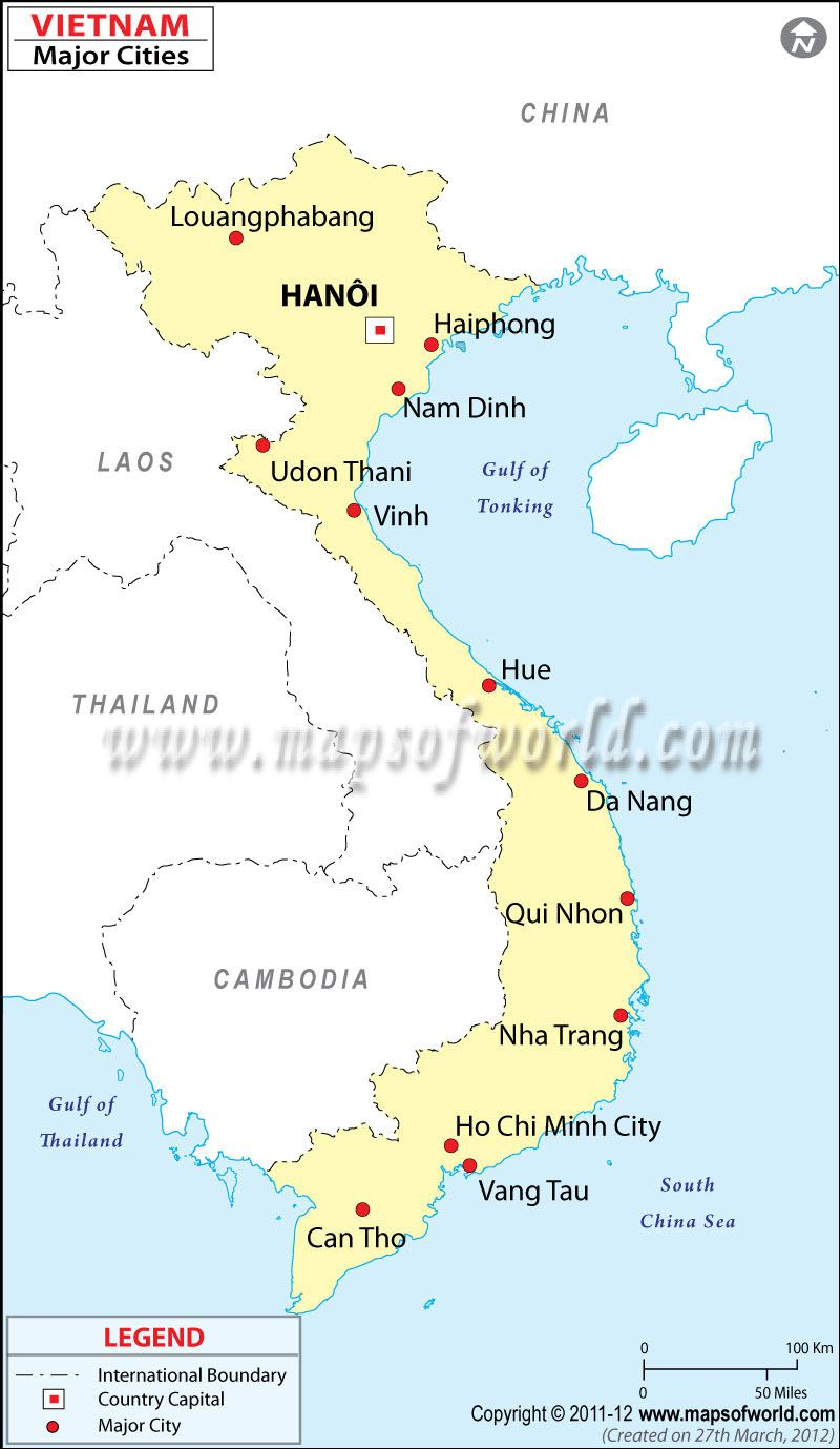 On this pin you can see the capital city of Vietnam which is