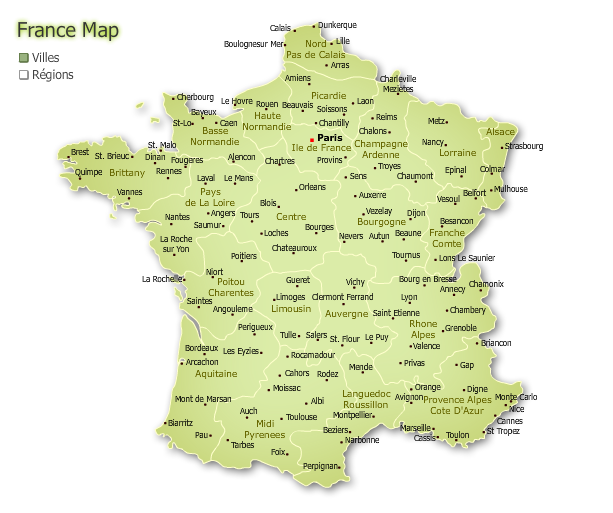 Large map of france with cities world map pinterest large map of france with cities gumiabroncs Choice Image