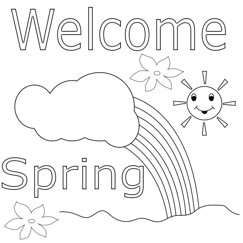Welcome Spring Coloring Pages Free We Are Giving Welcome Spring Coloring Pages Free Also See P Spring Coloring Sheets Spring Coloring Pages Coloring Pages