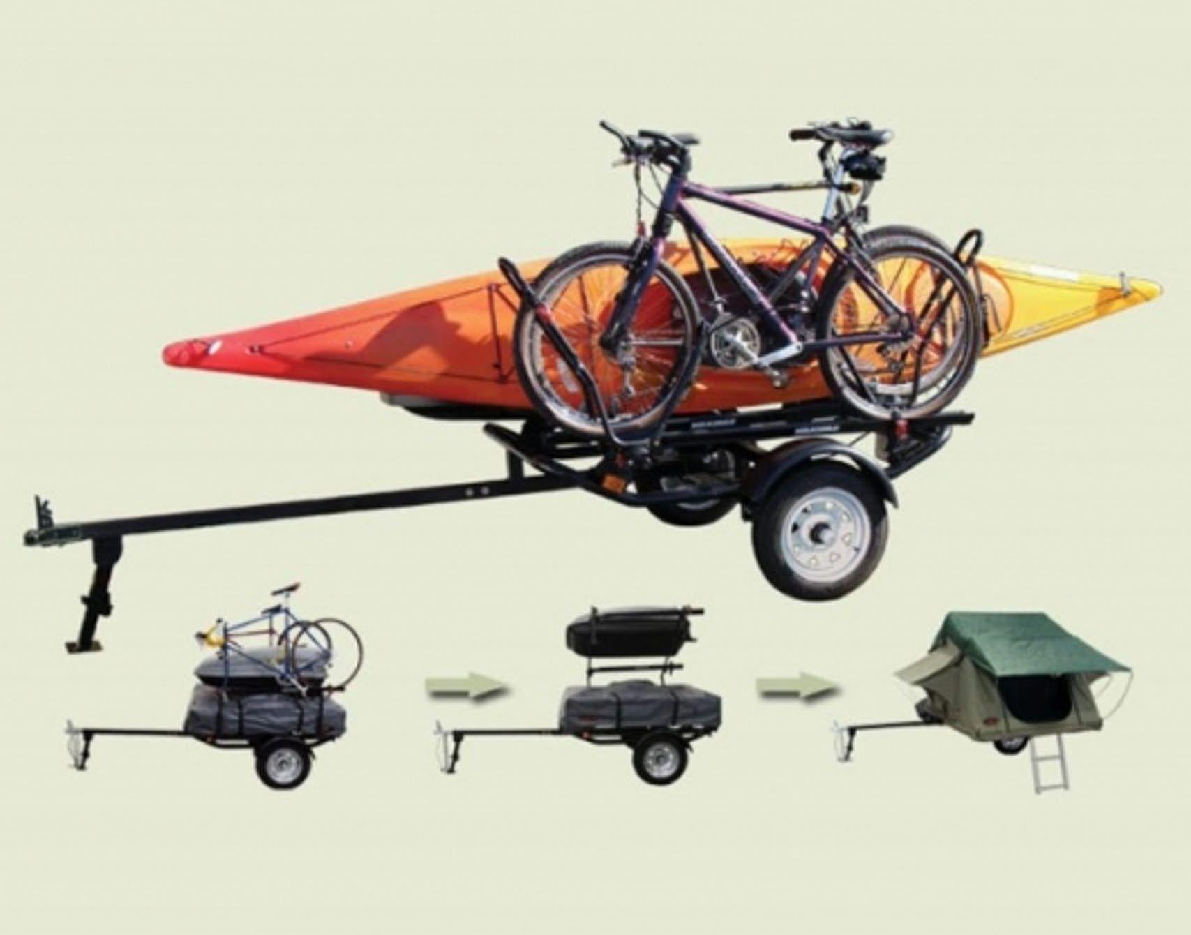 Dooit Sports Trailer Converts To Lightweight Camper Lightweight Campers Kayak Trailer Little Trailer