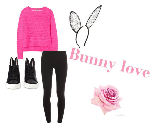 """Bunny love"" by natalie-noelle-smiley ❤ liked on Polyvore featuring Rebecca Taylor, Splendid, Minna Parikka, BCBGMAXAZRIA, happyhalloween and 60secondcoustume"