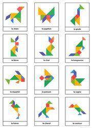 Mod les d 39 animaux en couleur pour jeu tangram imprimer gratuitement ce2 pinterest en - Animaux a imprimer en couleur ...