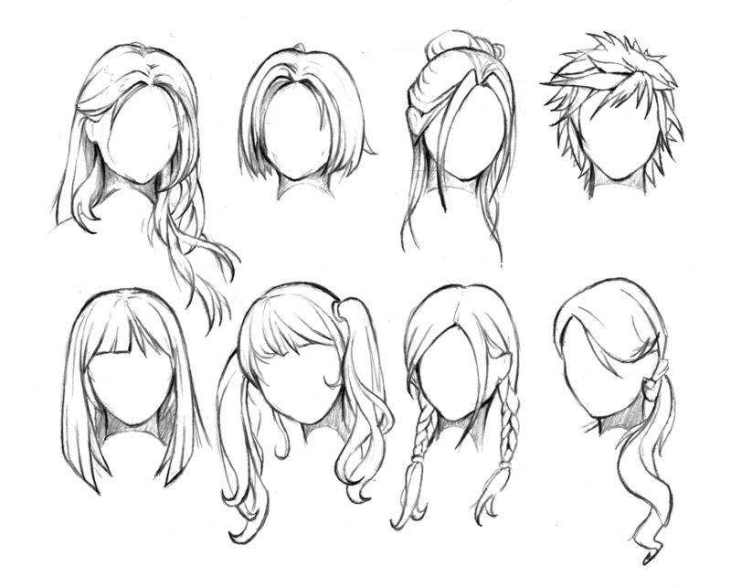 Animated womens hair styles