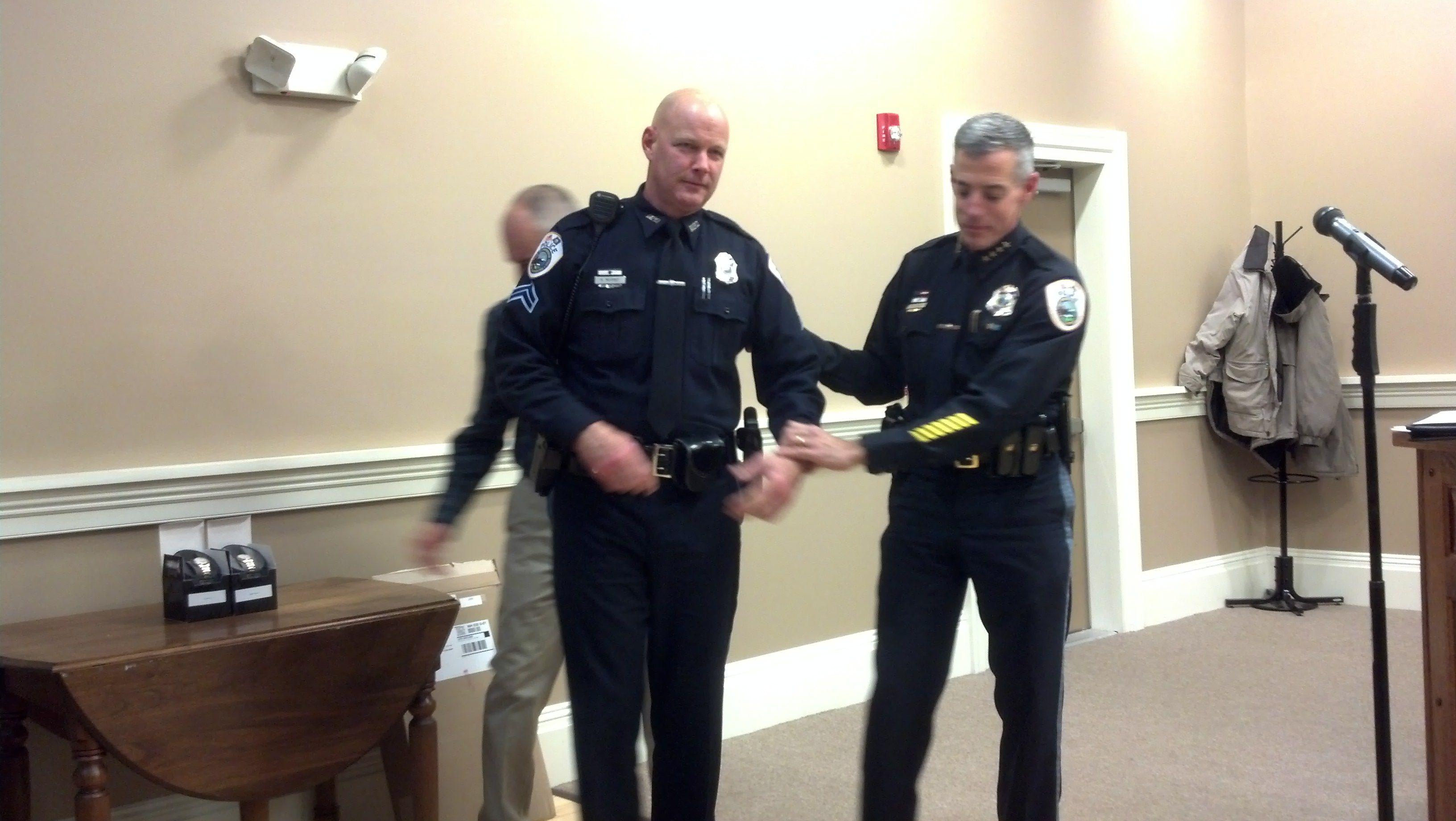 SRO Michael Murray, Chief Doyle-25 Years of Service