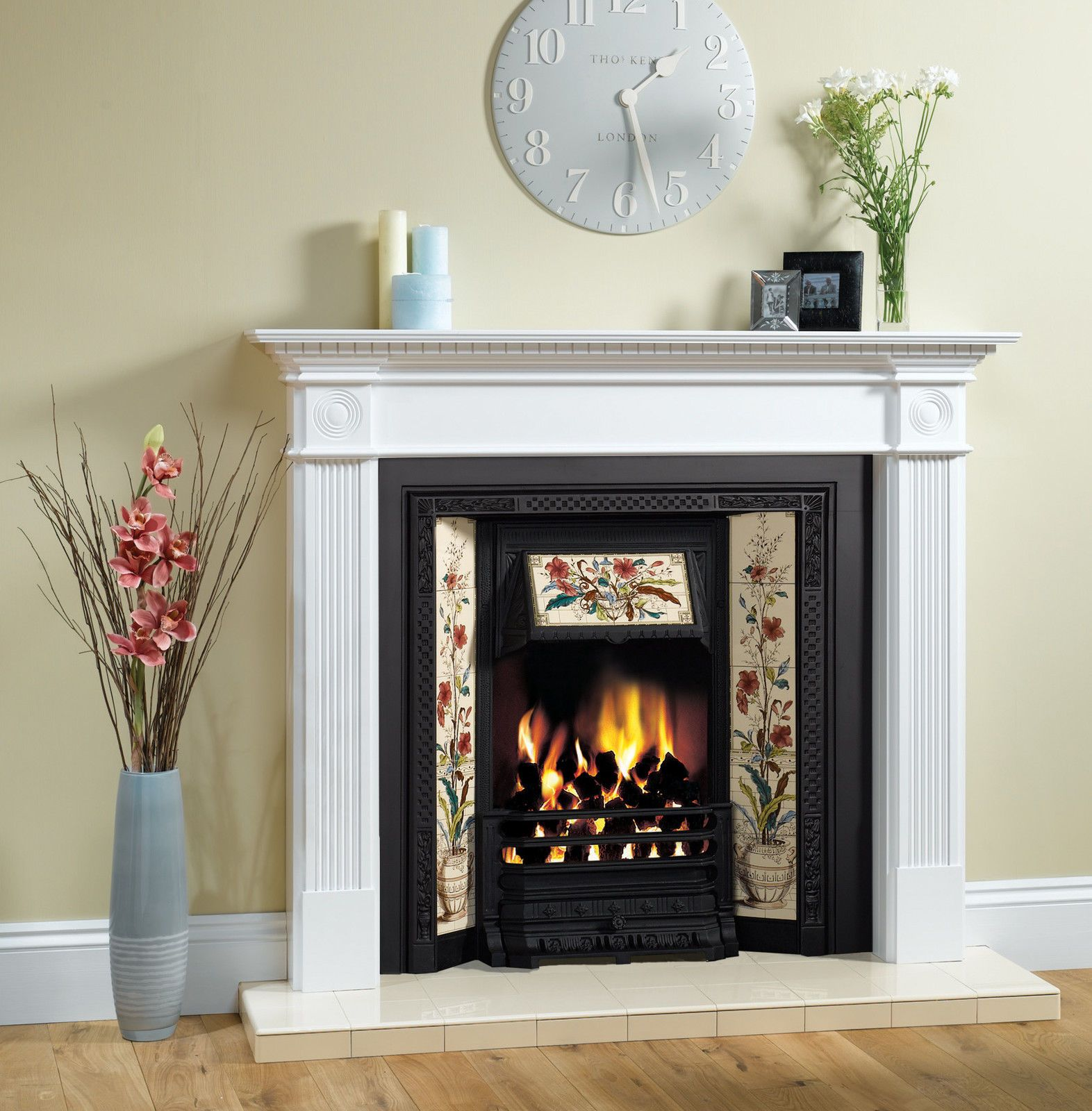 ex display stovax victorian tiled insert fireplace for solid fuel
