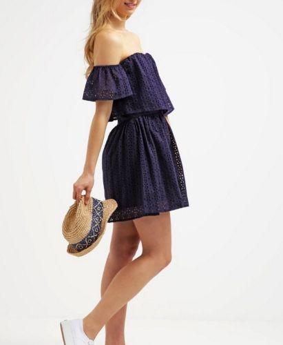 Guess Sondra Sukienka Letnia Carmen Odkryte Ramiona Bleu