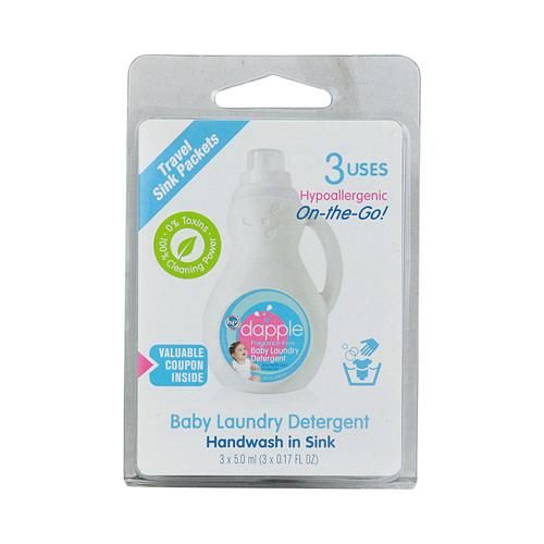 Dapple Baby Laundry Detergent Travel Sink Packets Description 3
