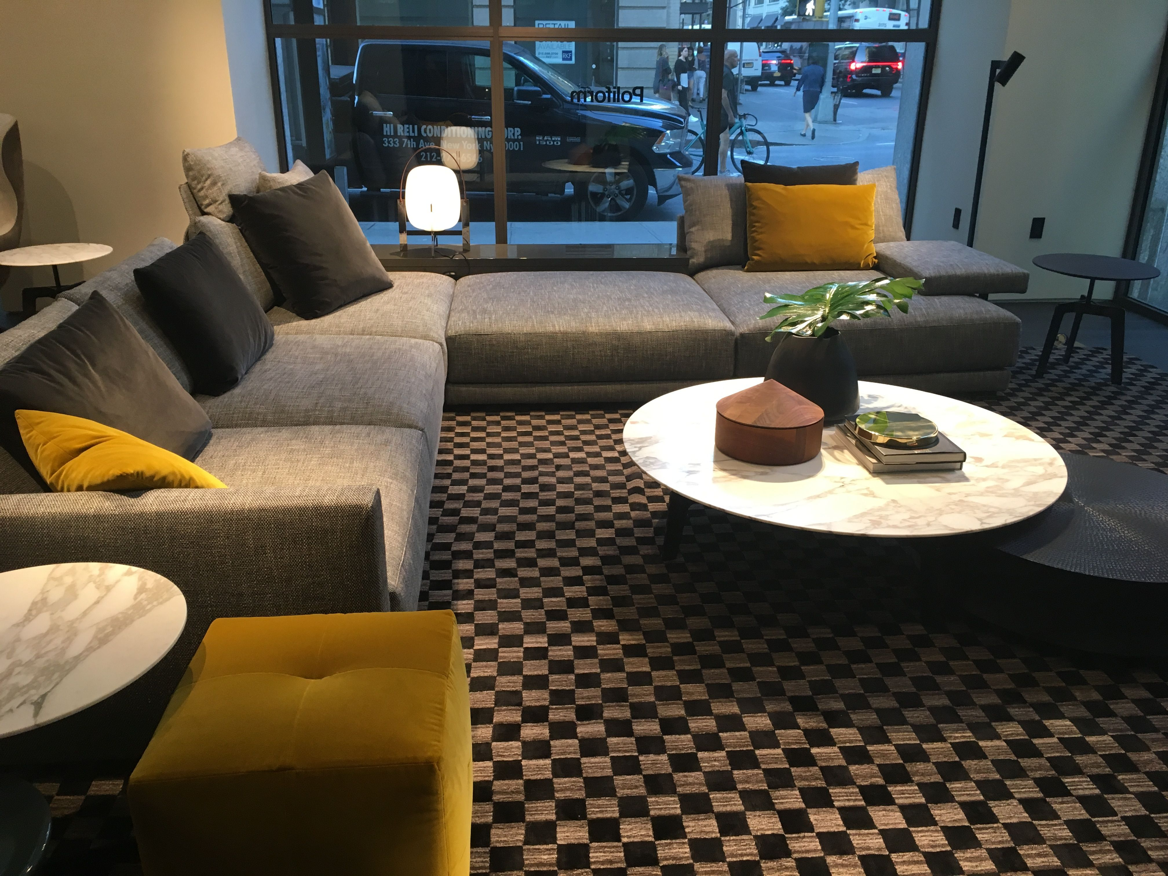 Love The Yellow Ottomans And Coffee Table Ottoman Combination