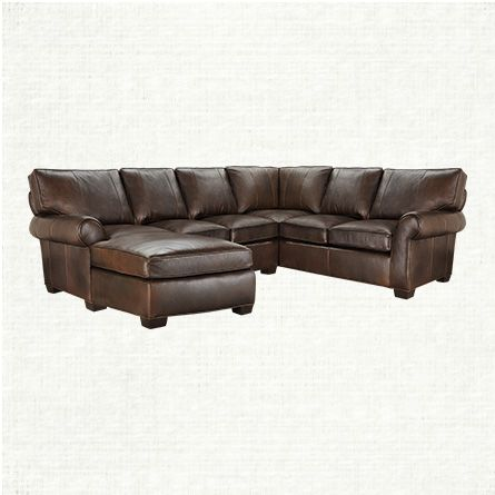 Great View The Brentwood 3 Piece Leather Sectional From Arhaus. With Its  Unexpected, Angular Interpretation