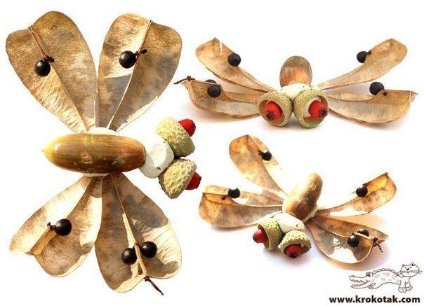 Goede knutselen met materiaal uit de natuur   Nature crafts, Kids art II-33