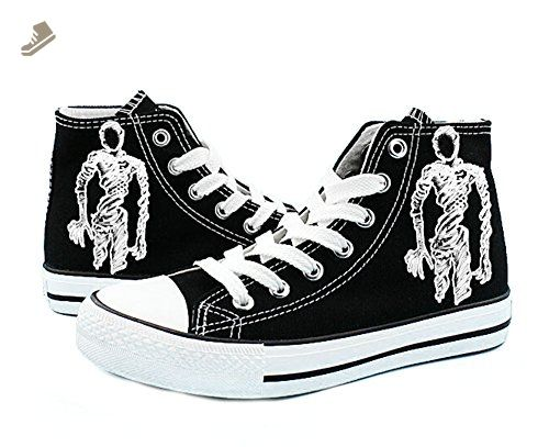 Ajin Manga Cosplay Shoes Canvas Shoes Sneakers Black/White