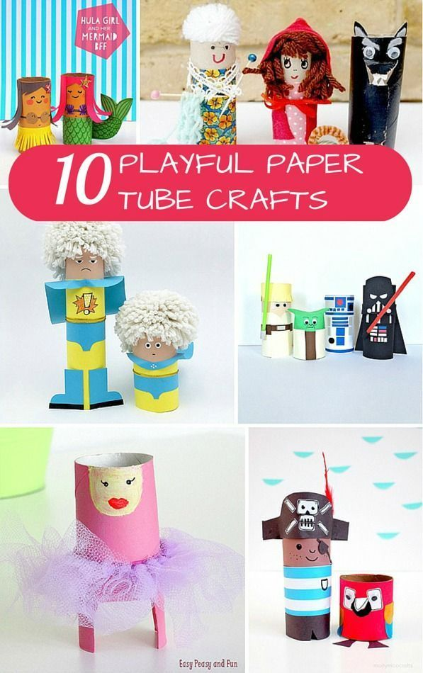 10 Playful Paper Tube Characters To Make Crafts Kids Art