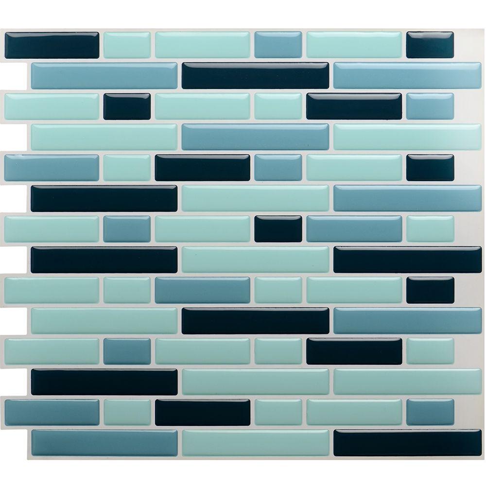 Contempory interior home decor design ideas 3d peel and stick tile ...
