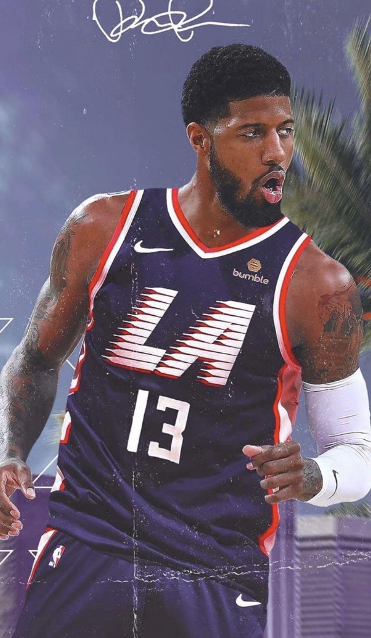 Pg13 Paul George La Clippers Wallpaper 2019 Basketball Players Nba Nba Pictures Nba Basketball Art