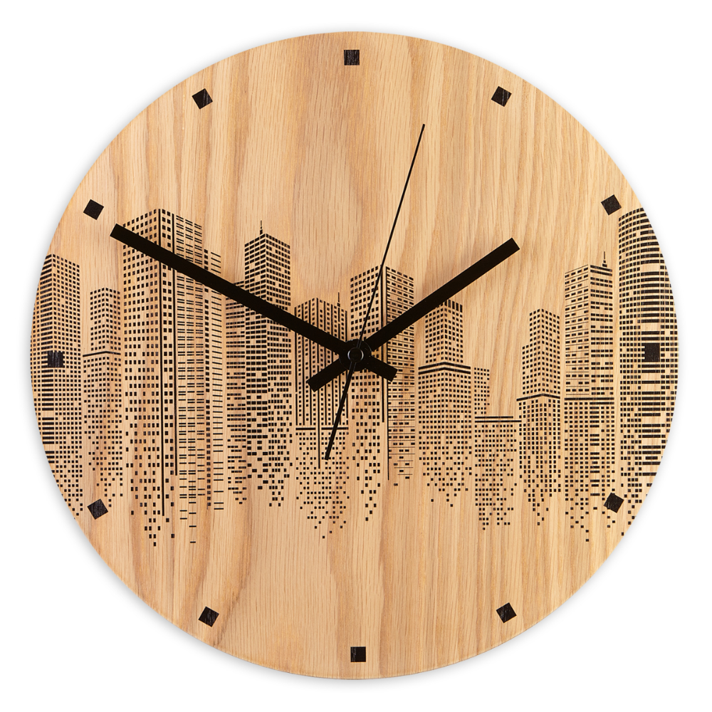 Oak Wall Clock Urban In 2020 Wall Clock Clock Wood Wall