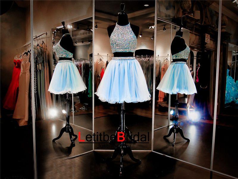 2 Piece Homecoming Dresses Homecoming Dress Light Blue Homecoming