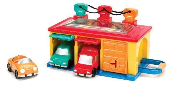 Toysmith Battat Under Lock And Key Garage Toy Amazon Toys Games Cool Gifts For Kids Three Car Garage Car Garage