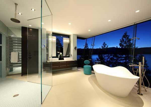 120 Sleek Modern Master Bathroom Ideas for 2018 Luxurious - spots für badezimmer