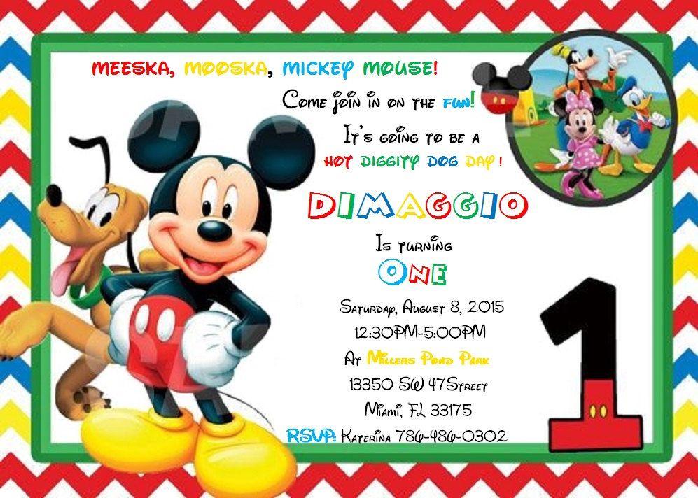 Mickey Mouse Clubhouse 1ra Cumpleaños Por KatsPartyShoppe