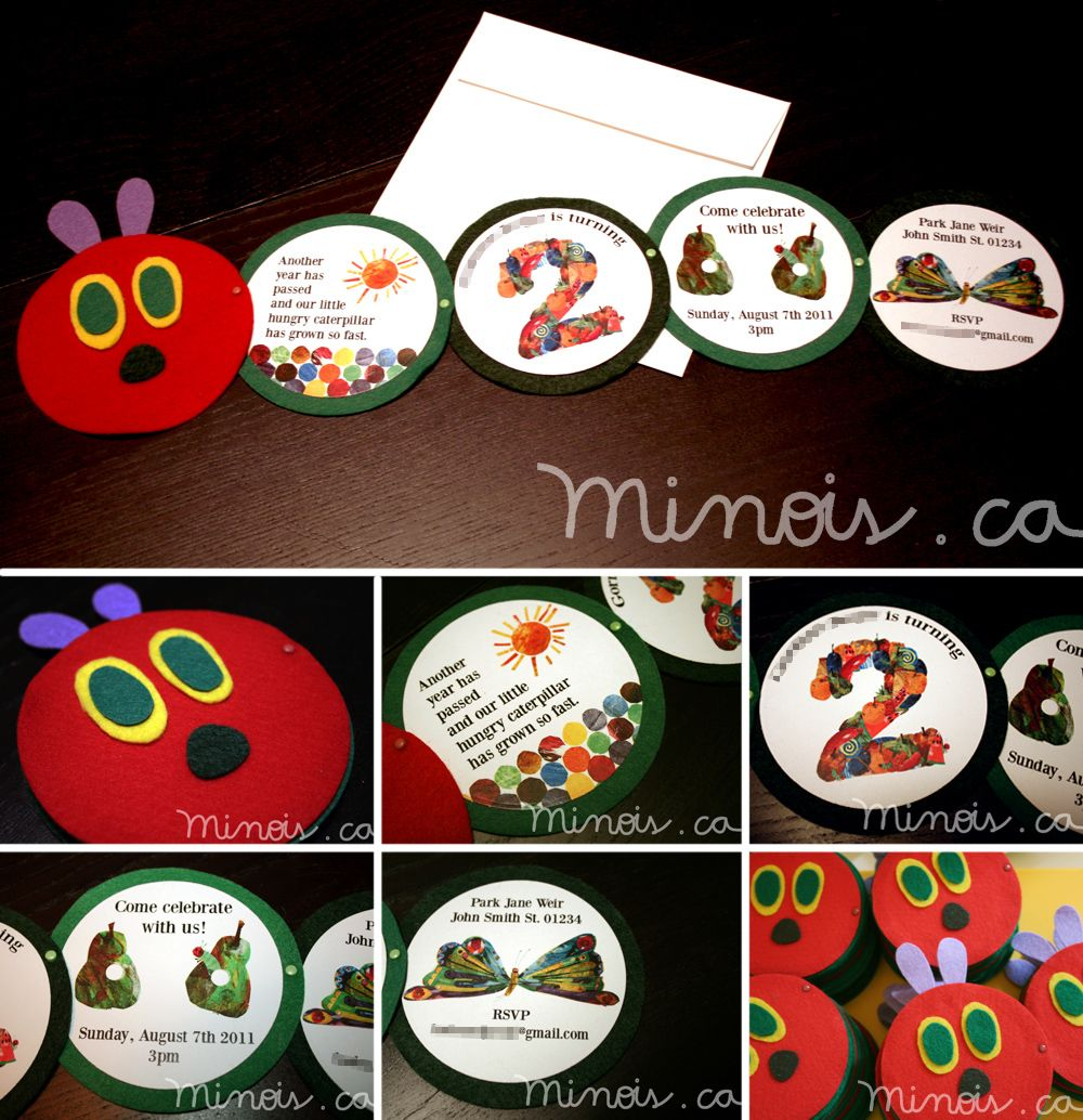 Minois- The Very Hungry Caterpillar - Invitation 1 | kids ...