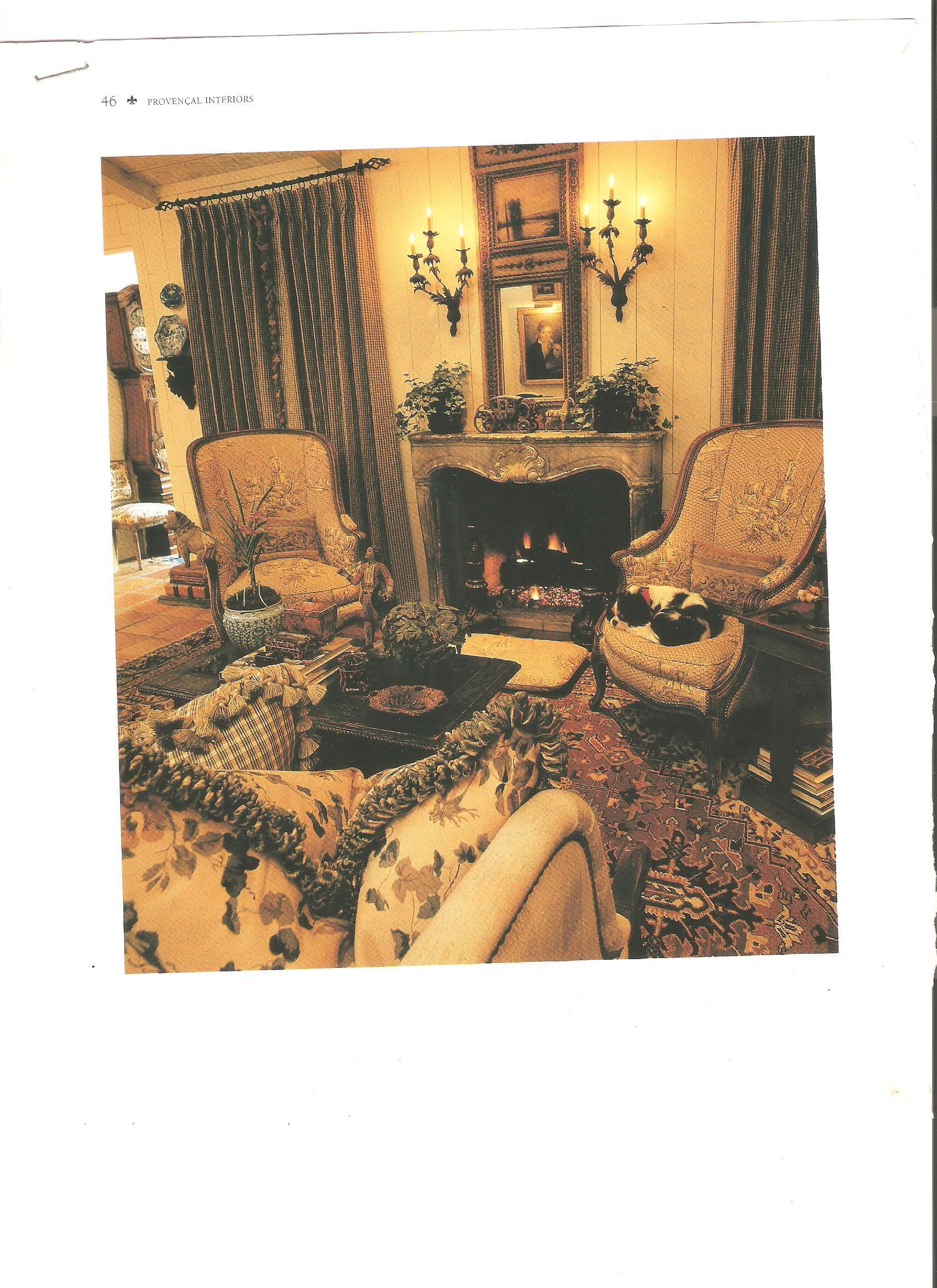 attractive living room of traditional french country home   Faudree from old Provencal Interiors magazine   DECOR ...