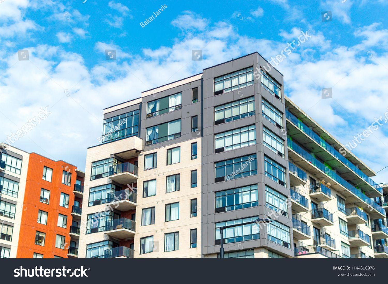 Modern Condo Buildings With Huge Windows In Montreal Canada Buildings Condo Modern Huge Apartment Building Modern Condo Condo Modern